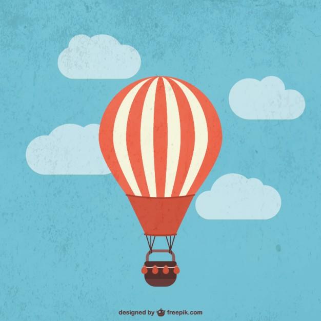 626x626 Retro Hot Air Balloon Vector Free Download