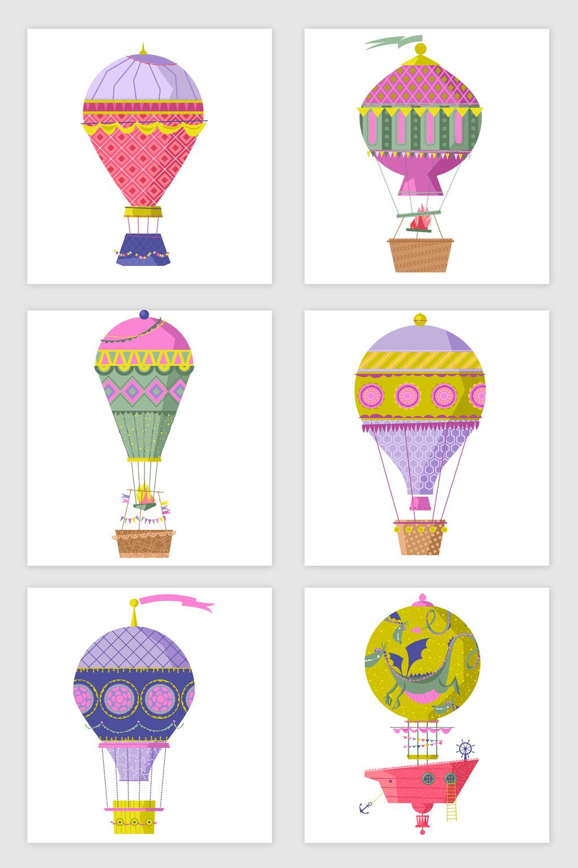 1024x1540 Cartoon Hot Air Balloon Vector Elements Free Download Pikbest