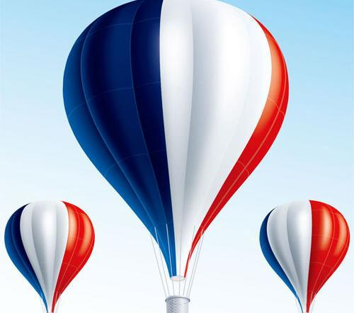 500x442 Flags Pattern Hot Air Balloon Vector Free Download Eps Files
