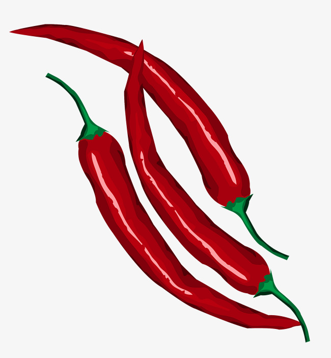650x702 Red Hot Chili Vector, Red Pepper, Hand Painted Red Pepper, Red