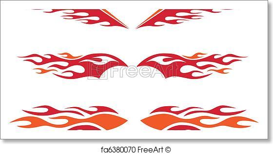 560x316 Free Art Print Of Hot Rod Flames. A Selection Of Vector Hot Rod