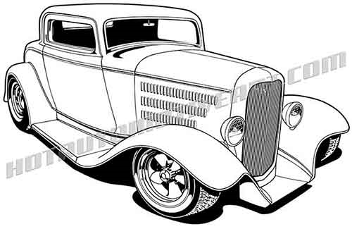 Hot Rod Vector Art