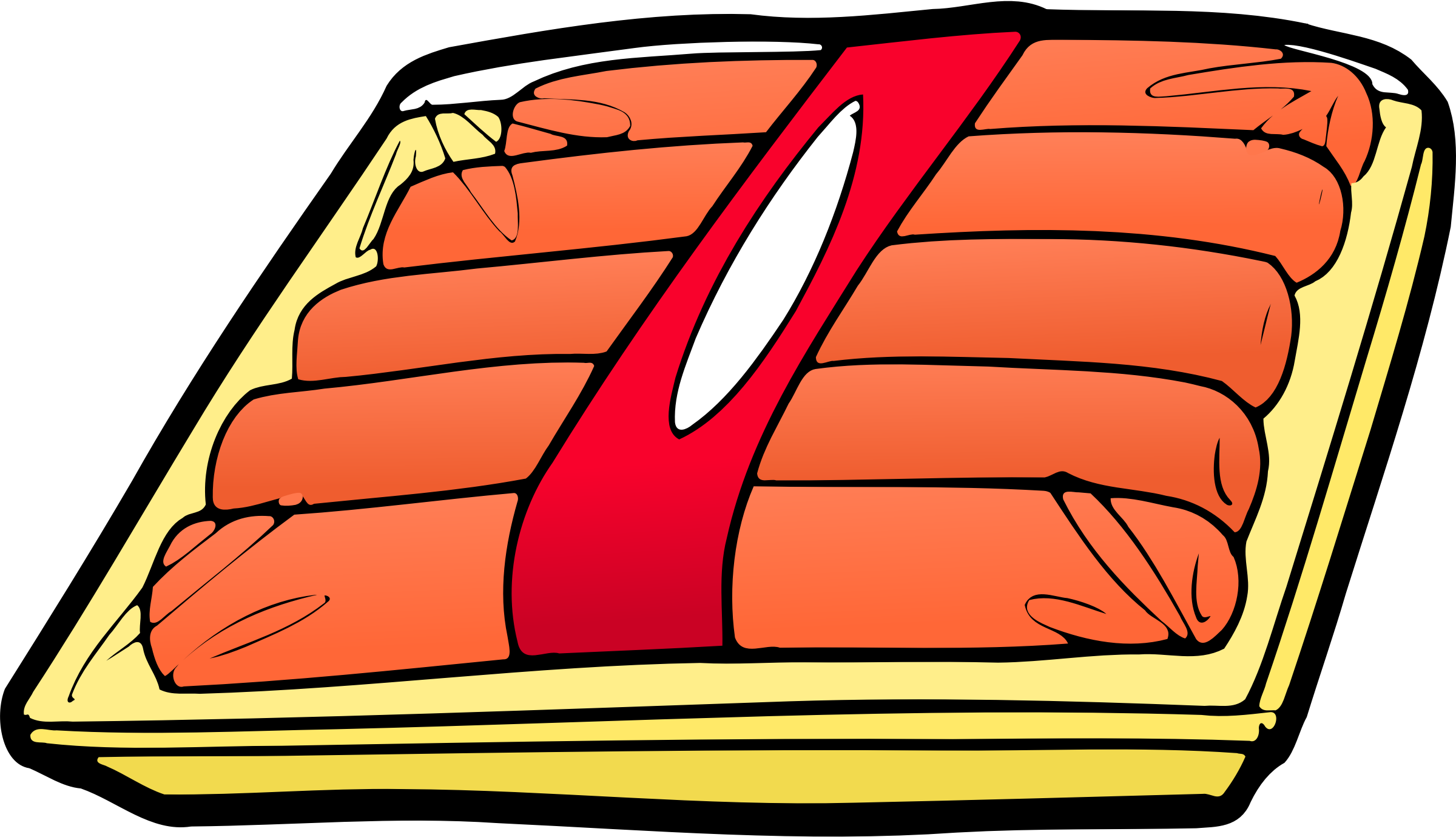 2400x1379 Hot Dogs Vector Clipart Image