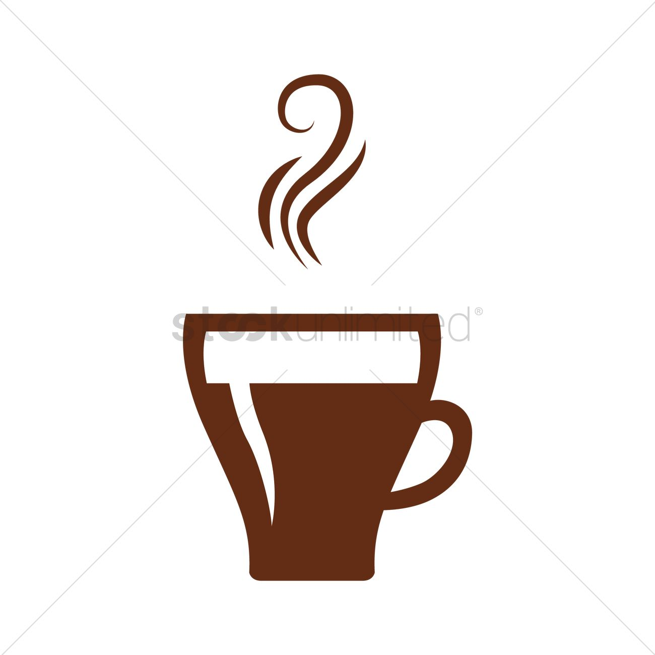 1300x1300 Cup Of Hot Coffee Vector Image