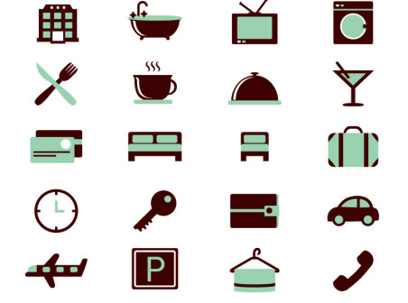452x336 16 Colour Hotel Icon Vector Material Icons Free 16 Colour Hotel