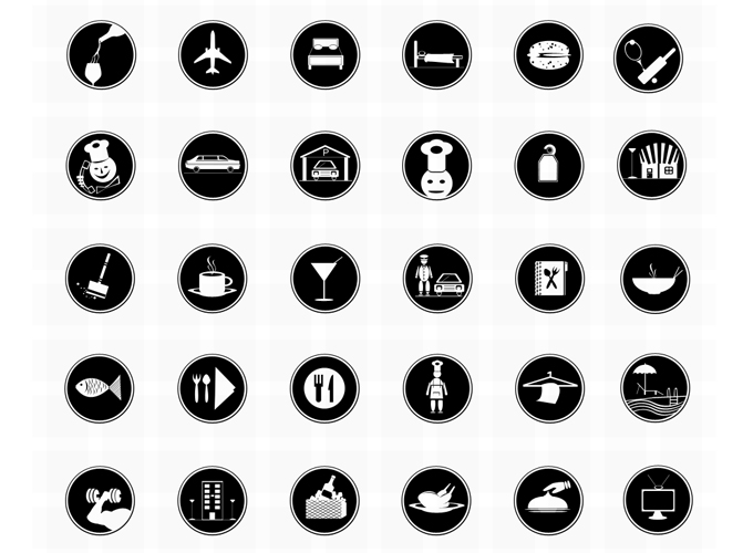 680x500 Free Free Vector Photoshop Restaurant Or Hotel Icons Psd Files