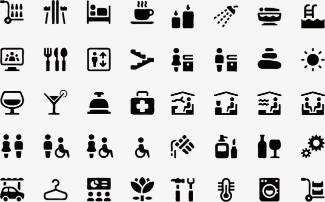 650x405 Hotel Icon Indicating System, Hotel Vector, Icon Vector