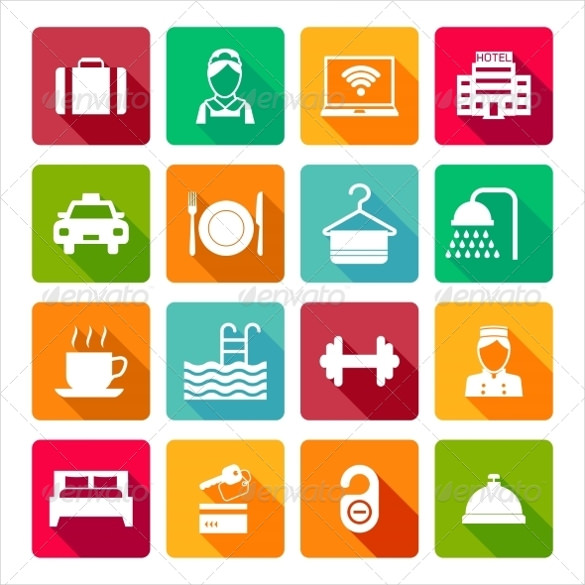 585x585 Hotel Icons Free Psd, Ai, Vector Eps Format Download Free