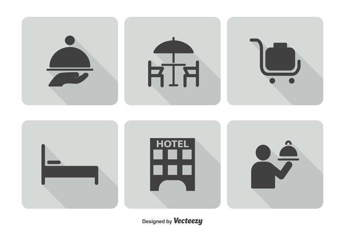 700x490 Hotel Service Icon Set