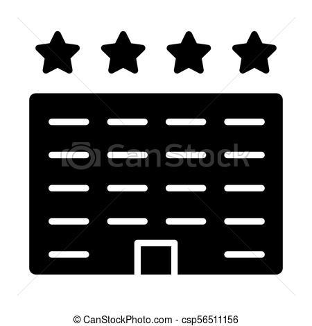 450x470 Hotel Icon. Vector Simple Minimal 96x96 Pictogram. Hotel Icon
