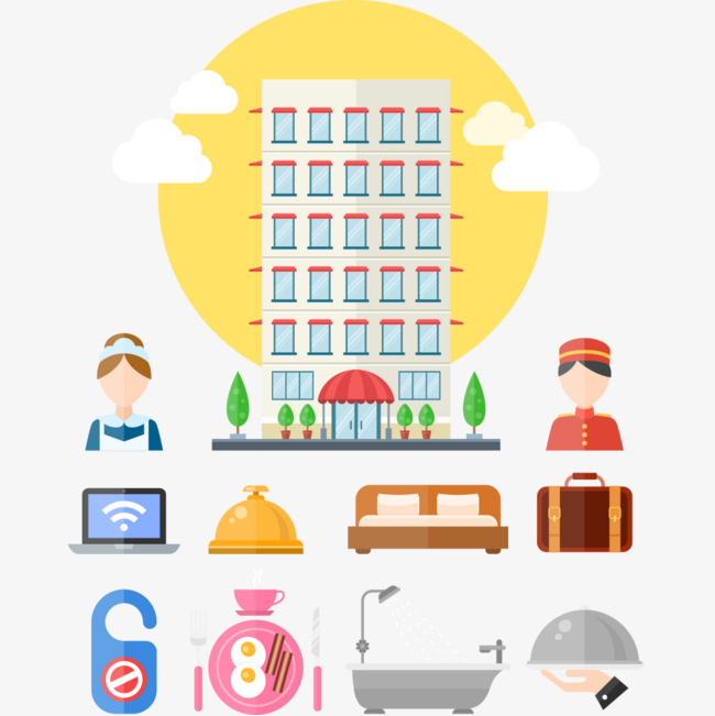 650x651 Flat Element Hotel Icon, Hotel Vector, Icon Vector, Hotels Png And