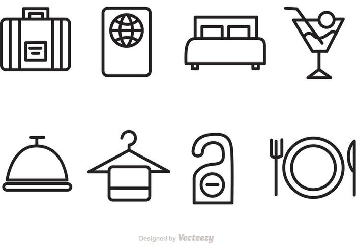 700x490 Hotel And Travel Vector Icons