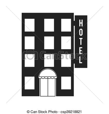 450x470 Hotel Building Construction Icon Vector Graphic. Hotel Building