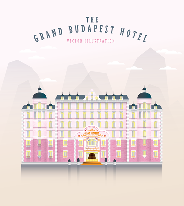 600x671 The Grand Budapest Hotel Vector Illustration On Behance