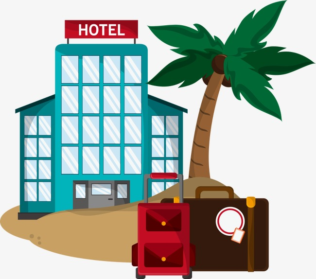 650x574 Vector Hotels And Coconut Trees, Coconut Clipart, Restaurant