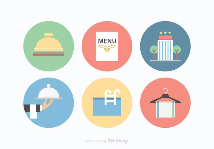 700x490 Free Hotel Services Vector Icons