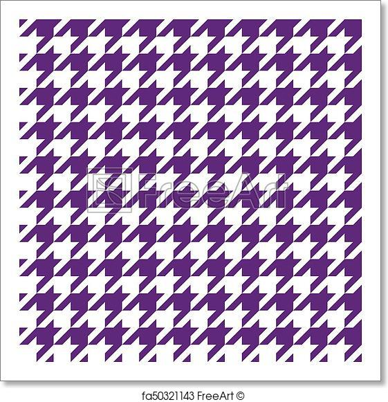 561x581 Free Art Print Of Seamless Houndstooth Pattern. Vector Image