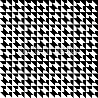 400x400 Houndstooth Geometry Seamless Vector Pattern