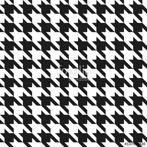500x500 Houndstooth Pattern In Black And White Stock Image And Royalty