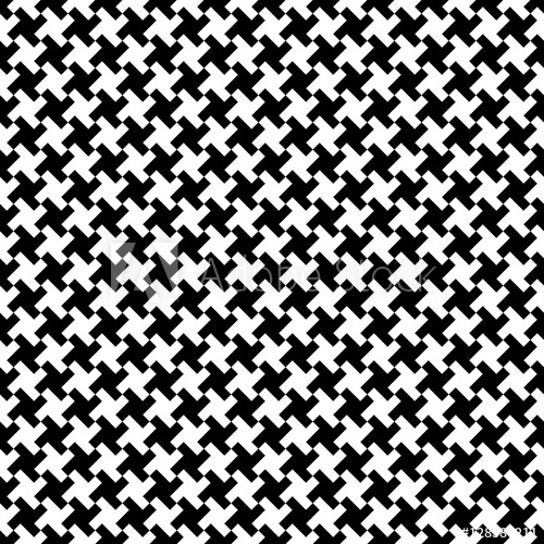 500x500 Houndstooth Fabric Pattern, Vector Seamless Pattern