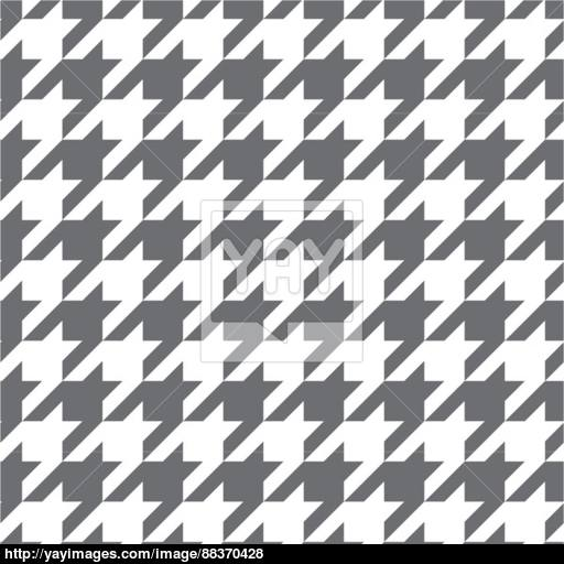 512x512 Houndstooth Vector Seamless Grey And White Pattern Or Tartan Tile