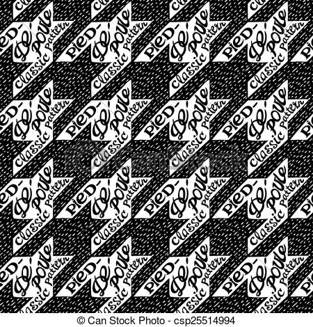 450x470 Seamless Classic Fabric Houndstooth, Pied De Poule Pattern With