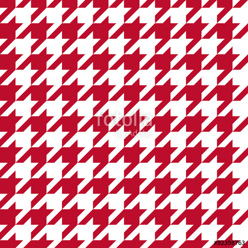 500x500 Seamless Corporate Red And White Houndstooth Pattern Vector Stock
