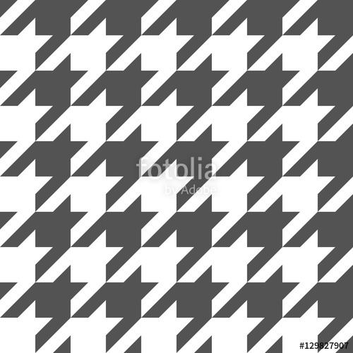 500x500 Seamless Houndstooth Pattern. Vector Image. Stock Image And