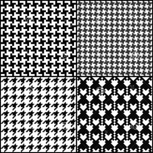 300x300 Stock Photos Houndstooth Pattern Vector Seamless Fashion Patterns
