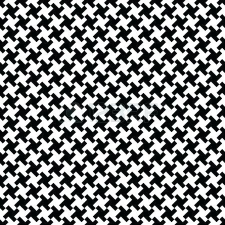 450x450 Black And White Houndstooth Fabric Black And White Fabric Fabric