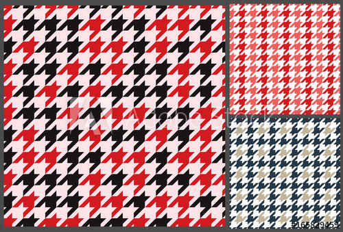 500x339 Houndstooth Patterns Set For Clothes