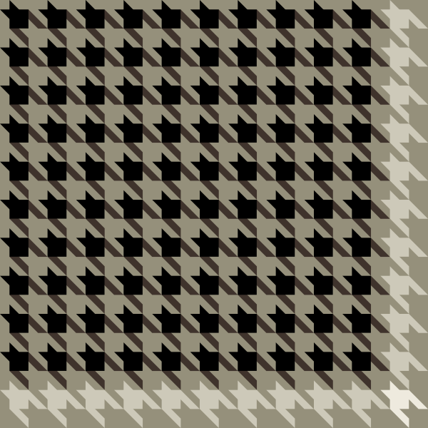 600x600 Black And White Houndstooth Check Pattern Vector Data. Svg