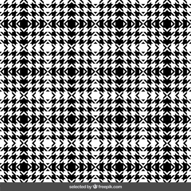 626x626 Black And White Houndstooth Pattern Vector Free Download