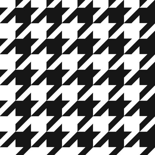 495x495 Free Seamless Vector Houndstooth Pattern