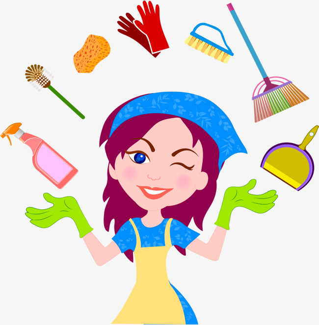 650x663 House Clean Helper, Vector Material, Do Housework, Family Cleaning