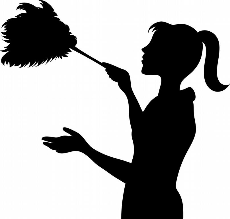 808x768 House Cleaning Black And White Clipart