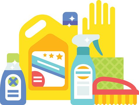 476x361 House Cleaning Hygiene And Products Flat Vector Icons Set Premium