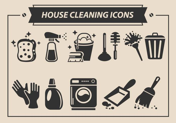 700x490 House Cleaning Vector Icons