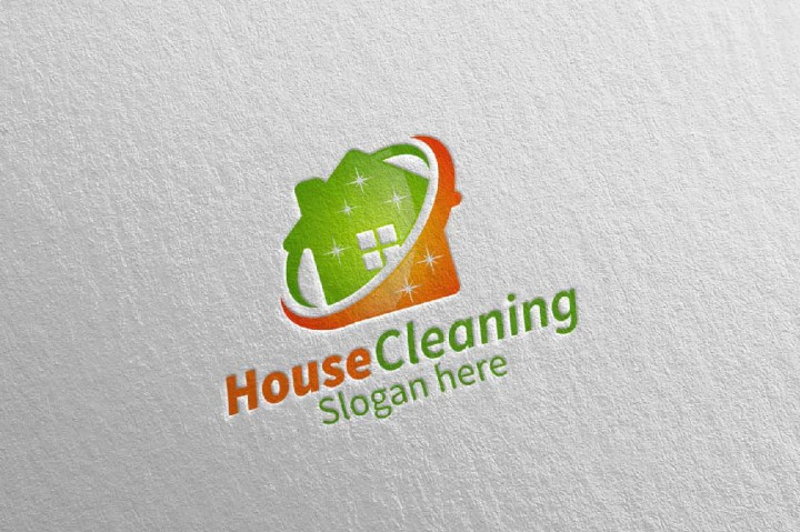 720x479 House Cleaning Vector Logo Design By Denayunethj