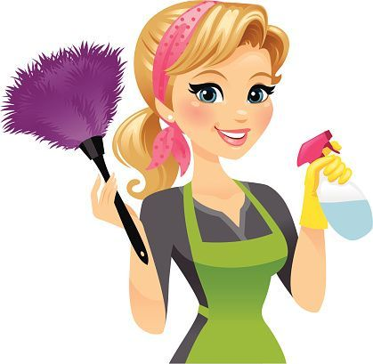 419x409 Cleaning Lady Vector Art Illustration House Cleaning Buissness
