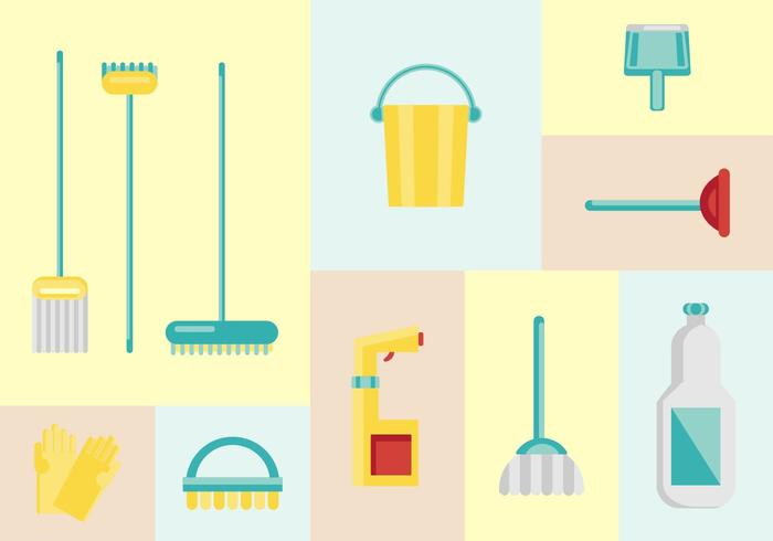 700x490 Free House Cleaning Vectors