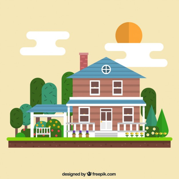 626x626 Geometric House Illustration Vector Free Download