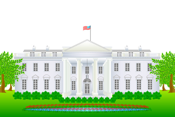 580x386 Graphstock Vector White House Illustration