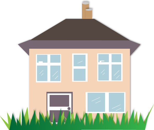 600x506 House Illustration Free Vector In Adobe Illustrator Ai ( .ai