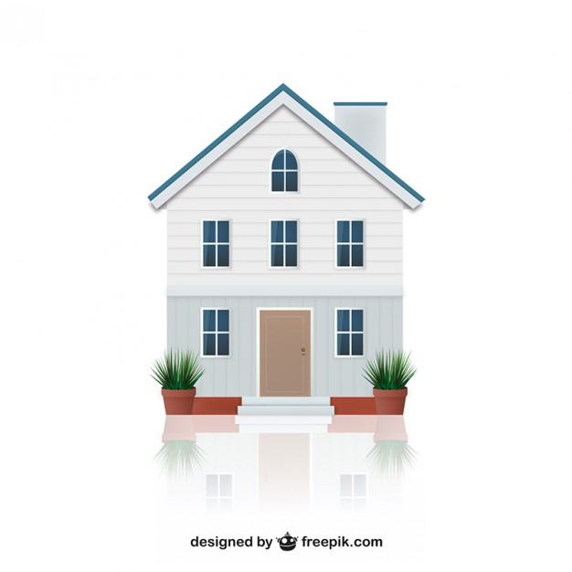 626x626 House Illustration Vector Free Download