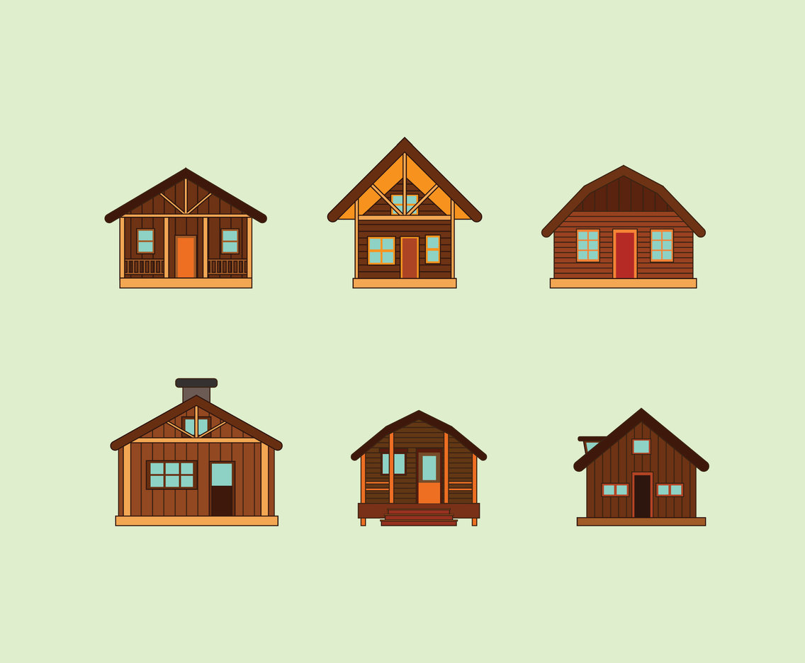 1136x936 Wooden Houses Vector Vector Art Amp Graphics