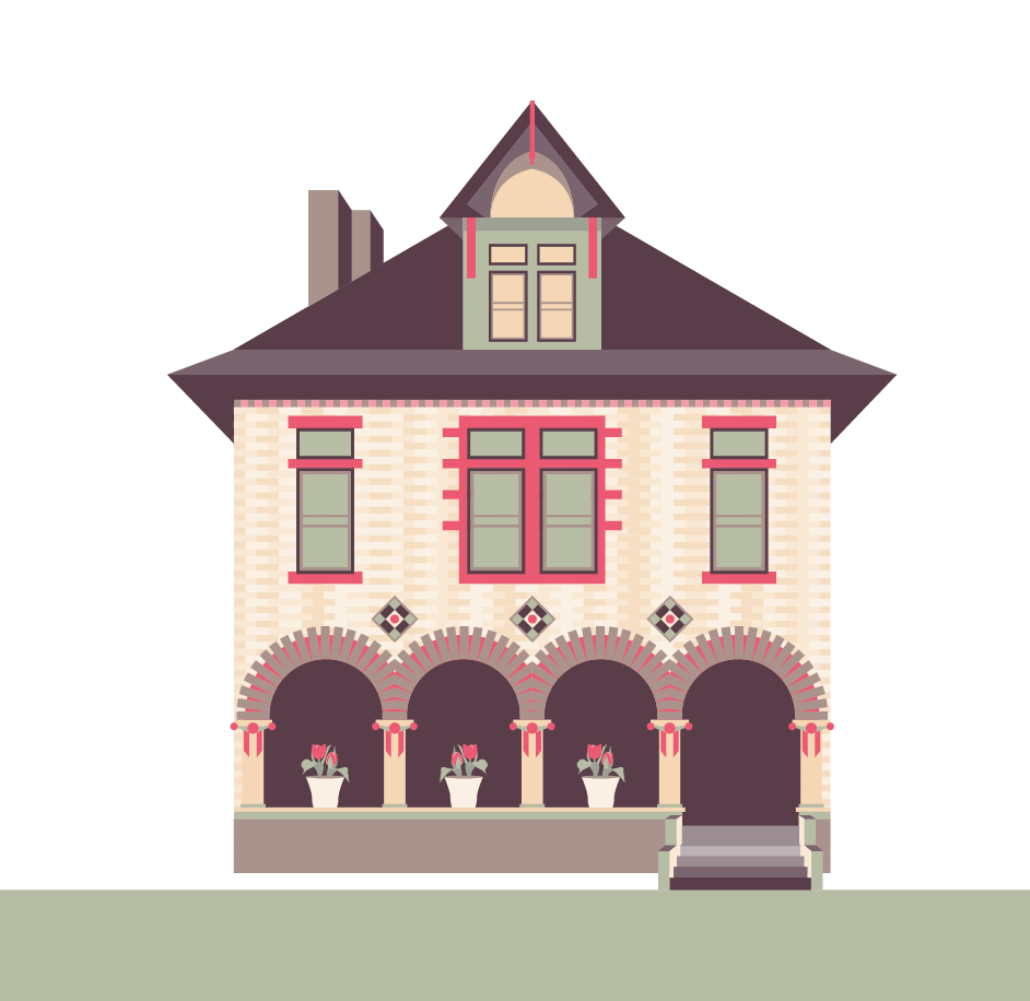 942x916 House Vector Illustration