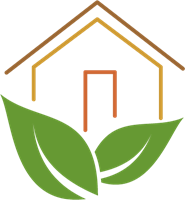 185x200 Green Leaf House Logo Vector (.ai) Free Download