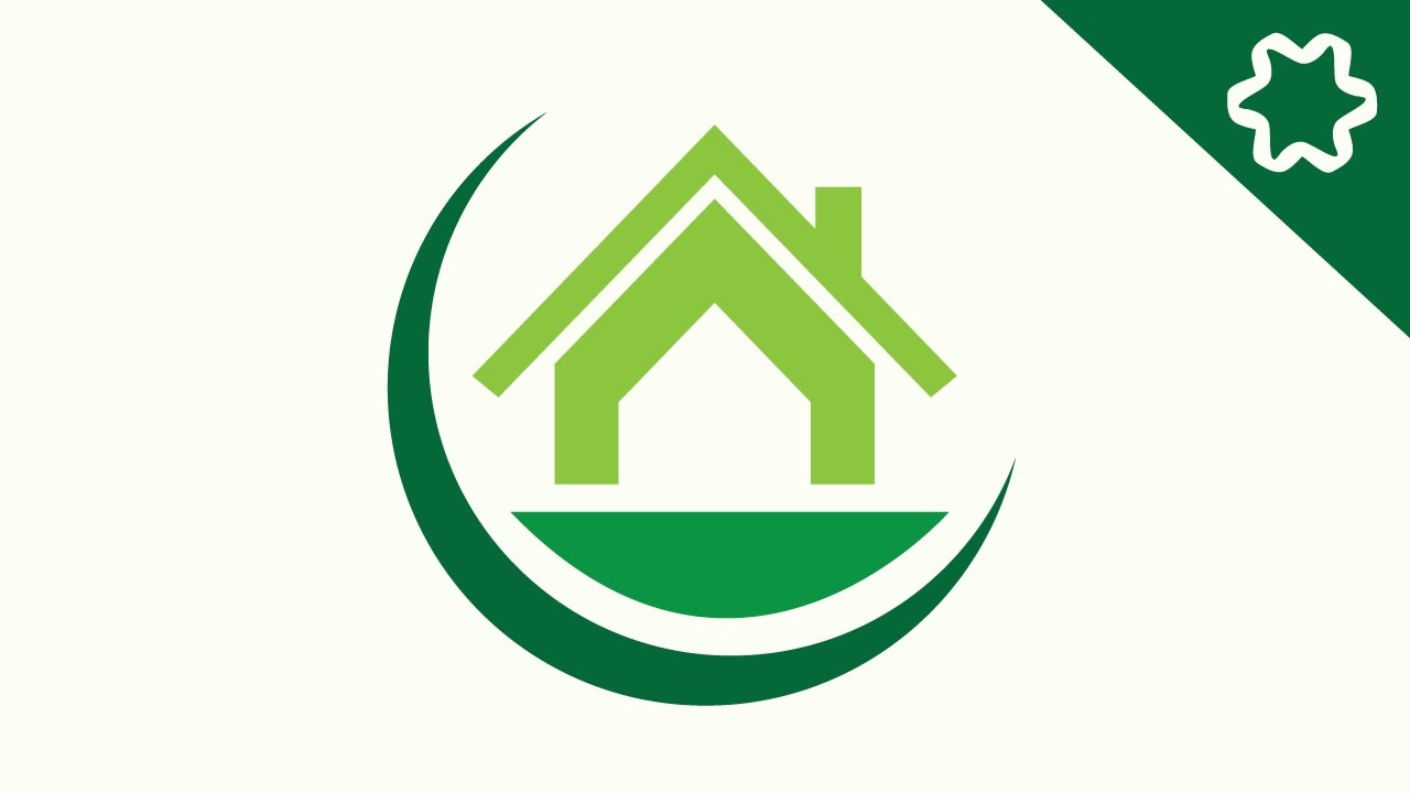 1280x720 House Design Logo Eco House Logo Design Tutorial How To A In Adobe