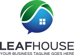 300x224 Leaf House Logo Vector (.eps) Free Download